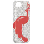 VINTAGE GLAM PEACOCK in Red iPhone 5 Case