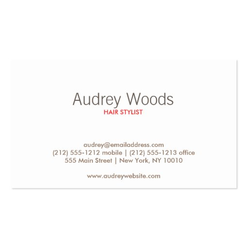 VINTAGE GLAM PEACOCK (Red/Brown) Business Card