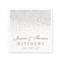 Vintage Glam Silver Confetti Wedding Collection Napkin