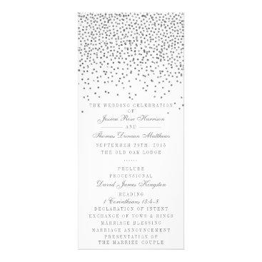 Invitation_Republic Vintage Glam Silver Confetti Wedding Program Cards