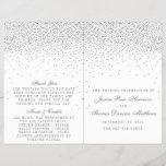 "Vintage Glam Silver Confetti Wedding Programs<br><div class=""desc"">Vintage Glam Silver Confetti Wedding Program Templates.</div>"