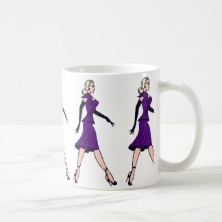 Vintage Glamor Girl, Retro Blond Secretary Coffee Mug