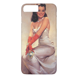 Vintage glamorous Pin Up with Diamonds iPhone Case