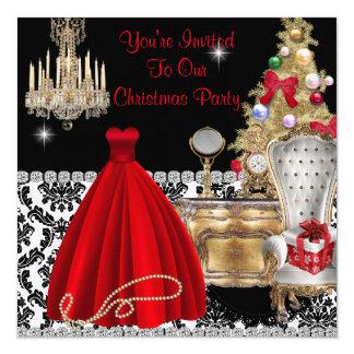 VINTAGE GLAMOUR CHRISTMAS INVITATIONS
