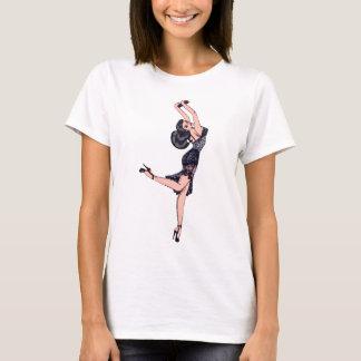 Vintage Glamour Girl, Brunette Blombshell Lingerie T-Shirt