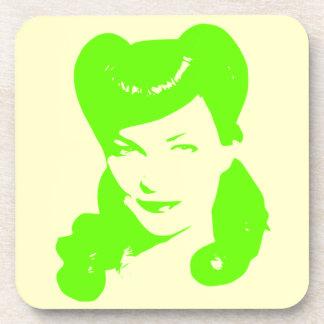 Vintage Glamour Girl Coaster