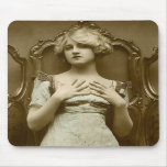 Vintage Glamour Girl Mouse Pad
