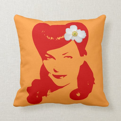 Vintage Glamour Girl Pillows