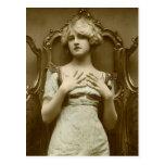 Vintage Glamour Girl Postcard