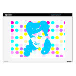 Vintage Glamour Girl w/Polka Dots Laptop Decal