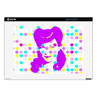 Vintage Glamour Girl w/Polka Dots Skin For Laptop