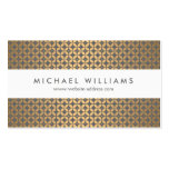 Vintage Glamour in Gold and Gray Designer Business Card Template