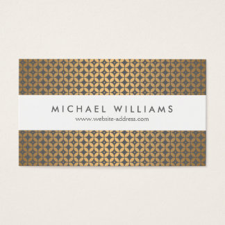 Vintage Glamour in Gold and Gray Designer Business Card