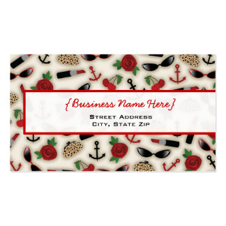 Vintage Glamour Inspired Business Card