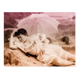 Vintage glamour portrait post card