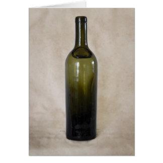 Vintage Glass Bottle Card