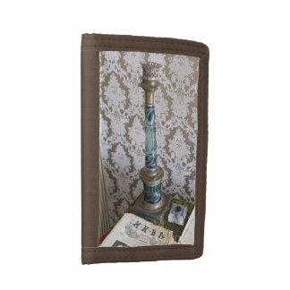 Vintage glass candleholder trifold wallet