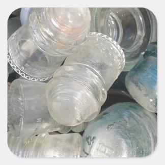 Vintage Glass Insulators Square Sticker