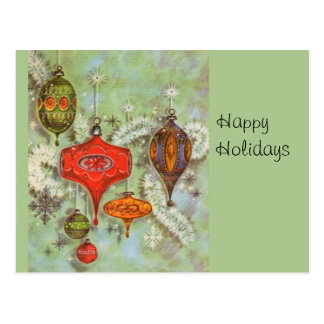 Vintage Glass Ornaments Post Cards
