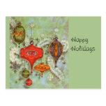 Vintage Glass Ornaments Postcard