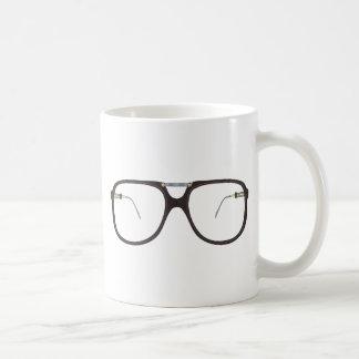 vintage glasses classic white coffee mug