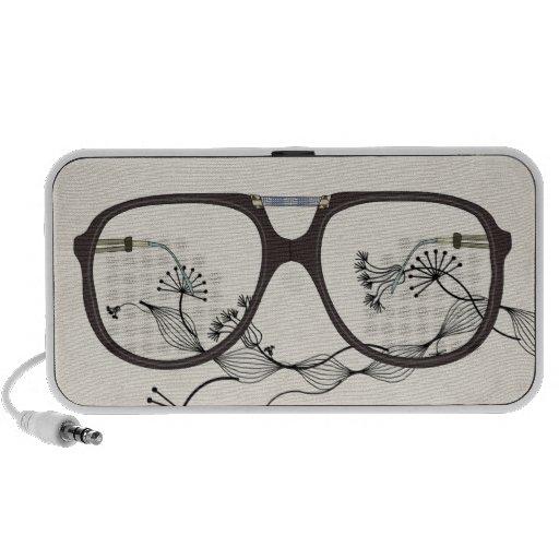 vintage glasses flower mini speaker