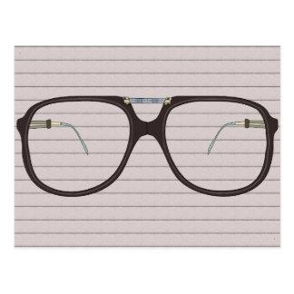 vintage glasses postcard