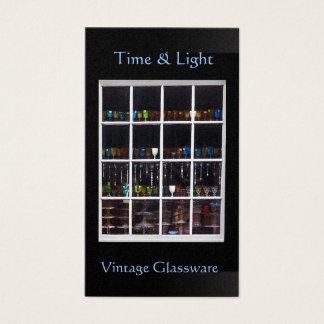 Vintage Glassware Shop Window Card