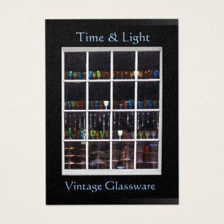 Vintage Glassware Window Chubby Card