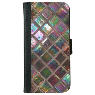 Vintage Glazed Mosaic Tiles iPhone 6 Wallet Case