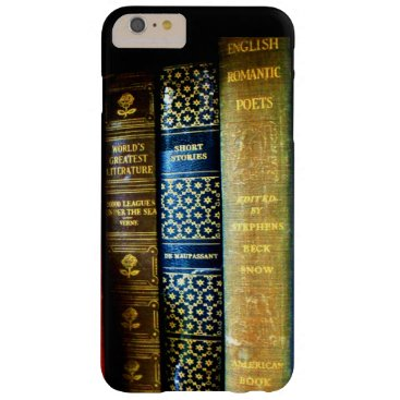 Vintage Globe and Books Barely There iPhone 6 Plus Case