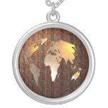 Vintage Globe Round Pendant Necklace
