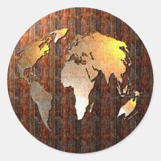 Vintage Globe Stickers