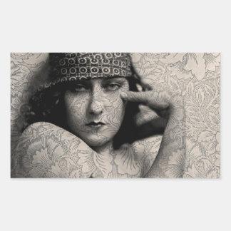 Vintage Gloria de Hollywood Pegatina Rectangular
