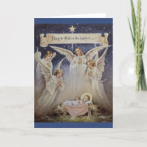 Vintage Glory to God in the Highest Christmas Card
