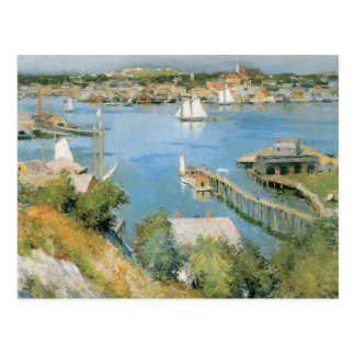 Vintage Gloucester Harbor Massachusetts Postcard