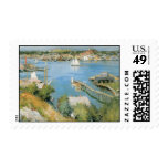 Vintage Gloucester Harbor Massachusetts Stamps