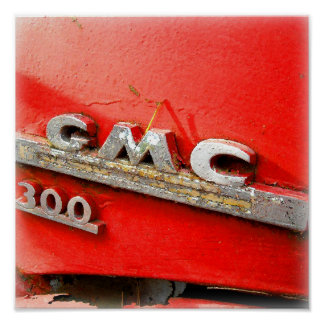Vintage GMC Truck Badge Poster