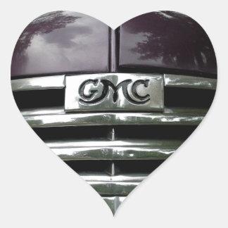 Vintage GMC Truck Grill Heart Sticker