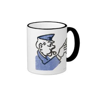 Vintage Go to Jail Ringer Coffee Mug