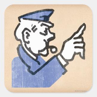 Vintage Go to Jail Square Sticker