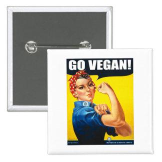 Vintage Go Vegan Button