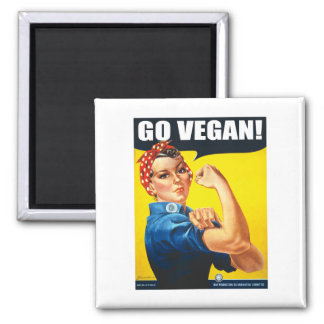 Vintage Go Vegan Magnet