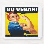 Vintage Go Vegan Mousepad