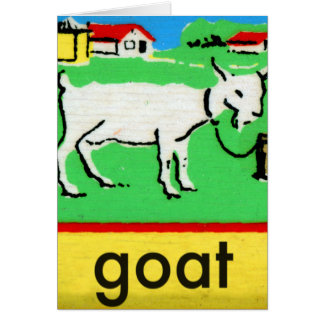 Vintage Goat Spelling Alphabet G is for Goat Card