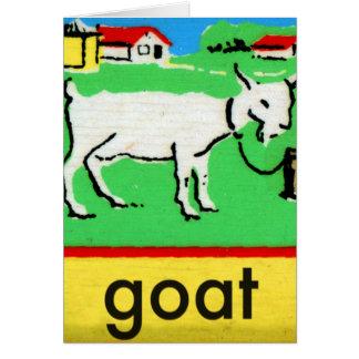 Vintage Goat Spelling Alphabet G is for Goat Card