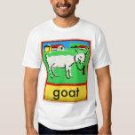 Vintage Goat Spelling Alphabet G is for Goat T-shirt
