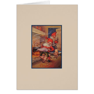 Vintage God Jul Christmas Card