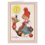Vintage God Jul Scandinavian Christmas Card