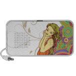 vintage goddess woman iPod speakers